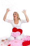 Happy valentine girl Stock Images