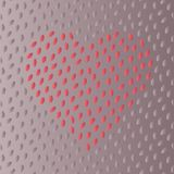 Happy Valentine greeting card design with heart shape decorated with tiny drops. Simple dotted heart shape background Royalty Free Stock Photos