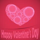 Happy valentine heart card bubble Royalty Free Stock Photography