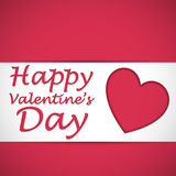 Happy valentine heart card. Happy valentine's heart card with shadowed pink background. Vector illustration Royalty Free Stock Photo