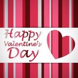 Happy valentine heart card Royalty Free Stock Photo