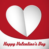 Happy valentine heart card white Royalty Free Stock Photo