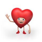 Happy Valentine heart cartoon character Royalty Free Stock Photo