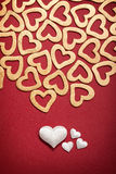 Happy Valentine - hearts Stock Images