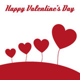 Happy valentine hearts card Stock Images
