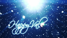 Happy Valentine, holiday background with snowflakes against blue stock footage