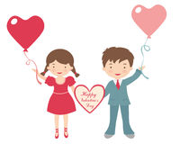 Happy Valentine kids Royalty Free Stock Photos