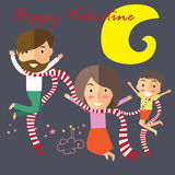 Happy valentine with my family Stock Images