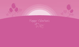 Happy Valentine with pink backgrounds. Vetcor illustration vector illustration