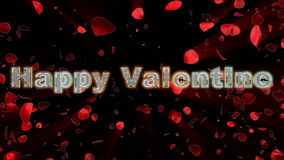 Happy Valentine and rose heart stock video