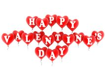 Happy valentine's balloons Royalty Free Stock Photos