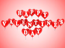 Happy valentine's balloons Royalty Free Stock Image