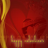 Happy valentine's Card. An abstract design for a valentine's day card vector illustration