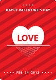 Happy Valentine`s card Royalty Free Stock Photography