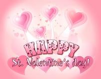 Happy Valentine's day. Draw illustration Royalty Free Stock Photos