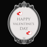 Happy Valentine's Day. Illustration on black background Royalty Free Stock Photos