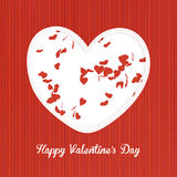 Happy Valentine's day. Greeting card Royalty Free Stock Image