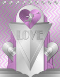 Happy Valentine`s Day Art Deco royalty free illustration