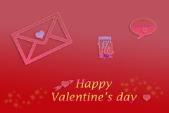 Happy Valentine`s Day Royalty Free Stock Photography