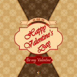 Happy Valentine's Day background with Be my valentine text Royalty Free Stock Photography