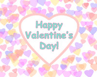 Happy Valentine's day background with color hearts. Stock Image