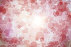 Happy Valentine`s Day background. Happy Valentine`s Day pink background vector illustration