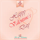 Happy Valentine's Day background with heart logo. And Be my valentine, I love you text Stock Photography