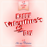 Happy Valentine's Day background with heart logo Stock Images