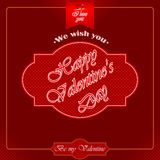 Happy Valentine's Day background with heart logo Stock Photos