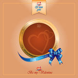 Happy Valentine's Day background with heart logo Royalty Free Stock Images