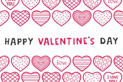 Happy Valentine`s day. background with hearts. Happy Valentine`s day. design for holiday greeting card, Valentine`s day and love day Royalty Free Stock Image
