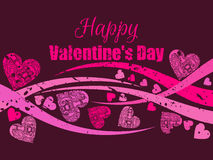 Happy Valentine`s Day background with hearts. Greeting card. Vector Stock Images