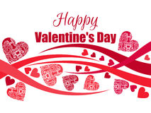 Happy Valentine`s Day background with hearts. Greeting card. Vector Royalty Free Stock Photos