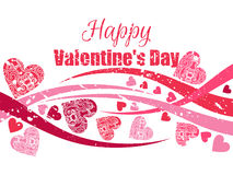 Happy Valentine`s Day background with hearts. Greeting card. Vector Royalty Free Stock Images