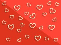 Happy Valentine`s day background with hearts. Holiday decoration. Element. Vector illustration Royalty Free Stock Images