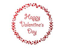 Happy Valentine`s day background with hearts. Holiday decoration. Element. Vector illustration Royalty Free Stock Image