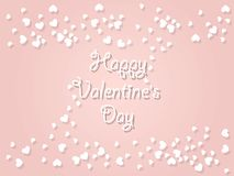 Happy Valentine`s day background with hearts. Holiday decoration. Element. Vector illustration Stock Photo