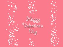 Happy Valentine`s day background with hearts. Holiday decoration. Element. Vector illustration Royalty Free Stock Photo