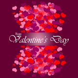 Happy Valentine's day background with hearts Stock Photo