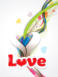 Happy valentine's day background with love text. Vector illustration Stock Photography