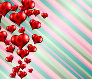 Happy Valentine's Day background with lovely Hearts Stock Photo