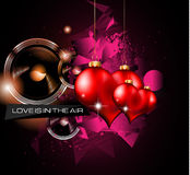 Happy Valentine's Day background with lovely Hearts Royalty Free Stock Photos