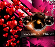 Happy Valentine's Day background with lovely Hearts Stock Image