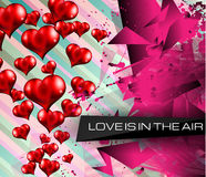 Happy Valentine's Day background with lovely Hearts Stock Images