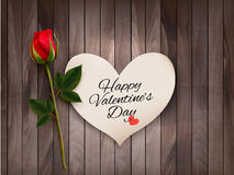 Happy Valentine's Day background with a note Stock Images