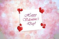Happy Valentine`s Day background. Happy Valentine`s Day pink background stock illustration