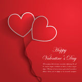 Happy Valentine's Day Background with red hearts Royalty Free Stock Photo