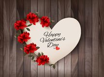 Happy Valentine's Day background Retro greeting card Royalty Free Stock Photos
