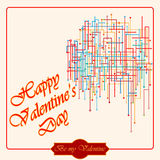 Happy Valentine's Day background with web of hearts as background Royalty Free Stock Photography