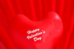 Happy Valentine`s Day balloon on red background Royalty Free Stock Images